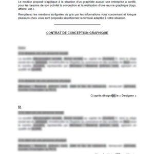 Modèle : Contrat pour graphiste freelance
